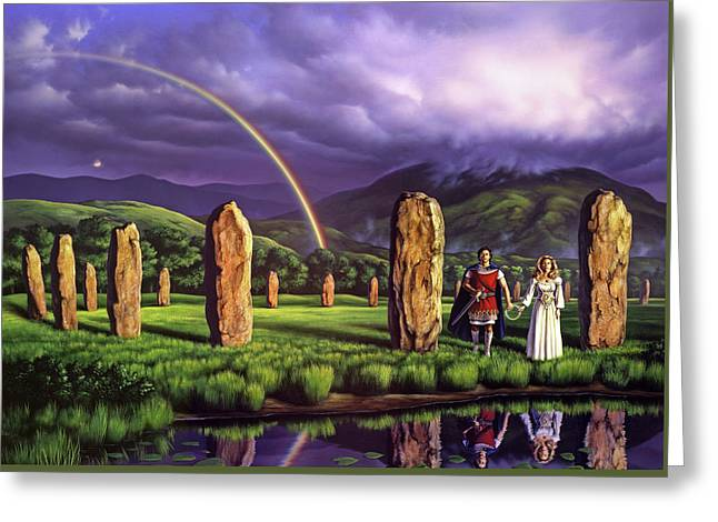 Stones Of Years Greeting Card by Jerry LoFaro