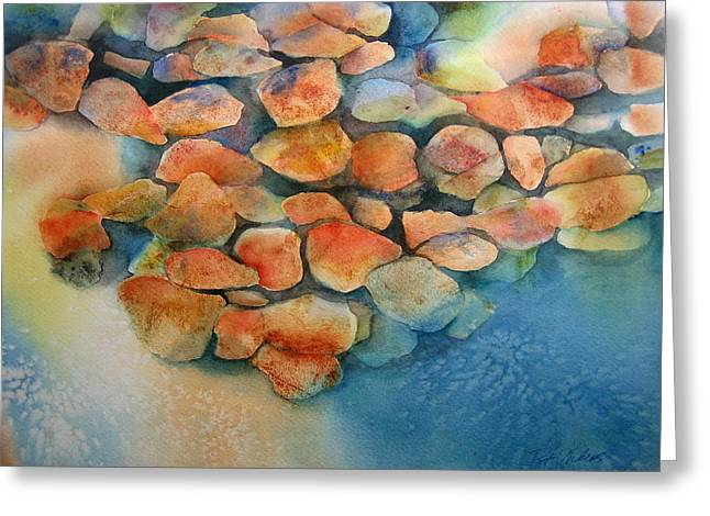 Stones Greeting Card by Pat Vickers