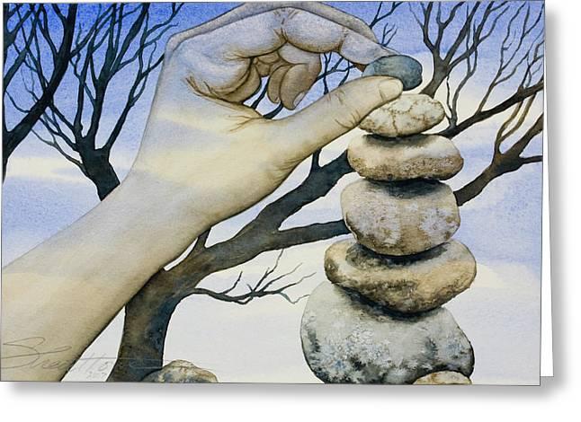 Stones Greeting Card by Sheri Howe