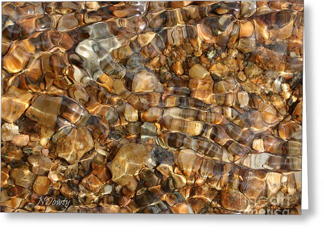 Stones Through Ripples Greeting Card