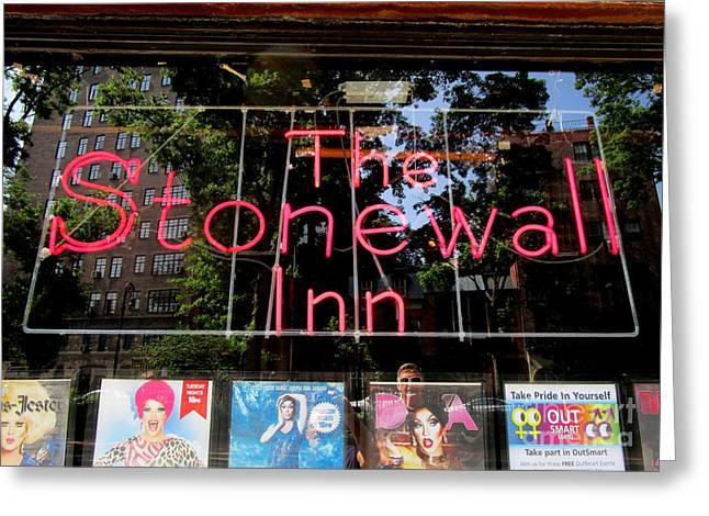 Stonewall Neon Greeting Card by Randall Weidner