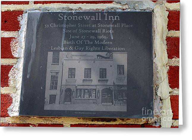 Stonewall Plaque Greeting Card by Randall Weidner