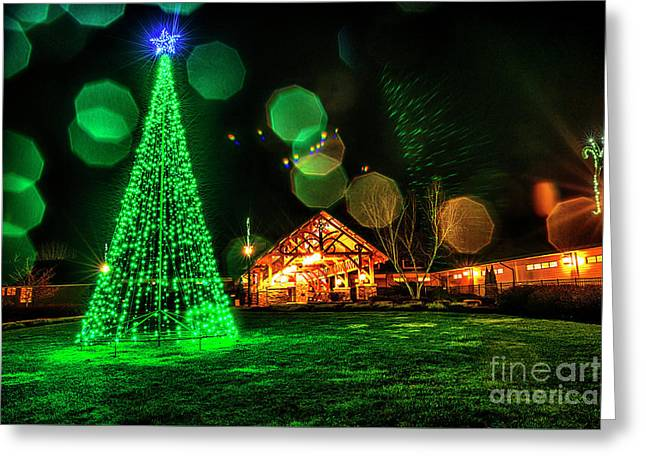 Stonewall Resort At Christmas Greeting Card