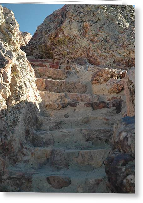 Greeting Card featuring the photograph Stoneway by Lori Mellen-Pagliaro