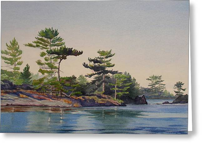 Stoney Lake Morning Greeting Card by Debbie Homewood
