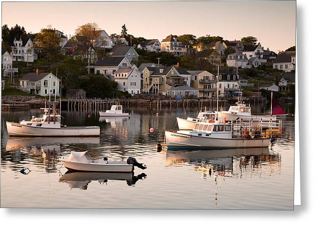 Stonington Harbor Greeting Card