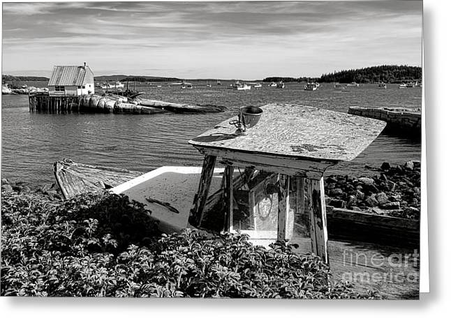 Stonington Memories Greeting Card by Olivier Le Queinec