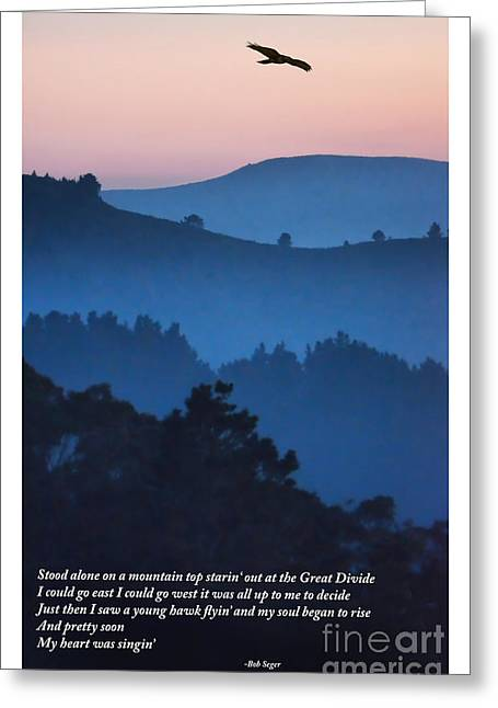 Stood Alone On The Mountain Top Greeting Card
