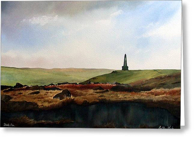 Stoodley Pike Greeting Card by Paul Dene Marlor