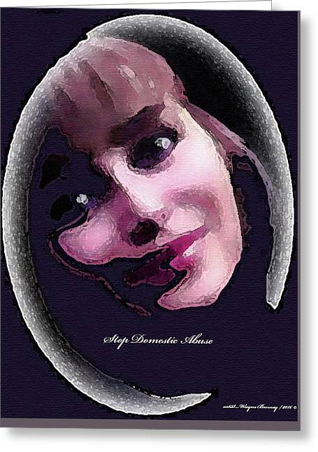 Stop Domestic Abuse Greeting Card