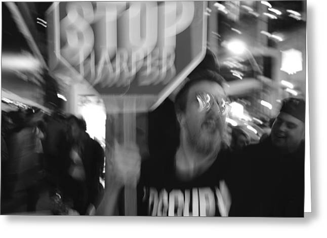 Stop Harper Greeting Card by Valentino Visentini