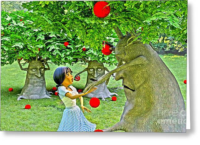 Stop Picking My Apples Greeting Card