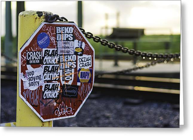 Stop Sign Ala New Orleans, Louisiana Greeting Card