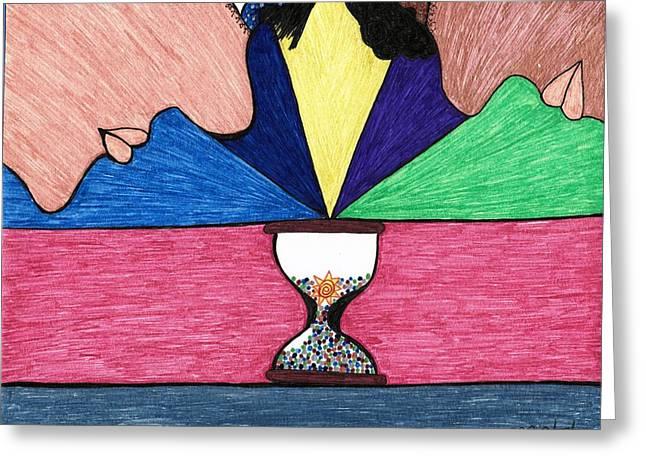 Stopping Time Greeting Card by Briah L Ryan