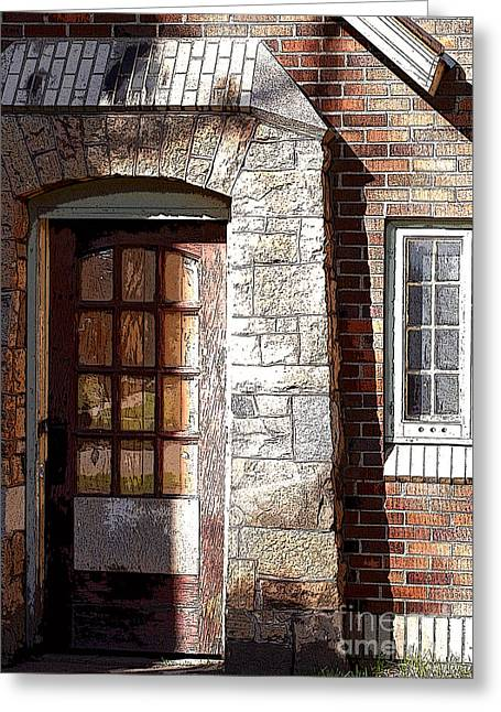 Storage Door Greeting Card by Steve Augustin