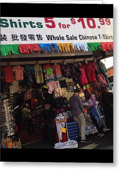 Store Front China Town Greeting Card