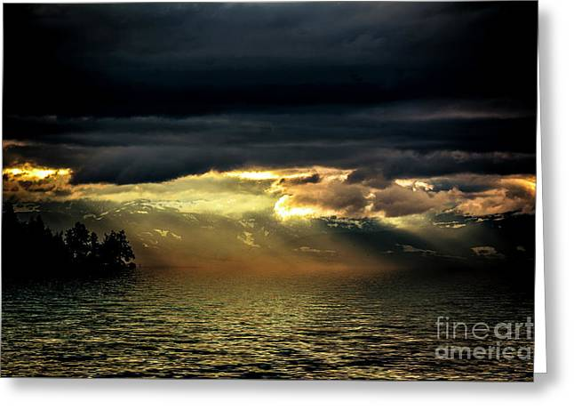 Storm 4 Greeting Card by Elaine Hunter