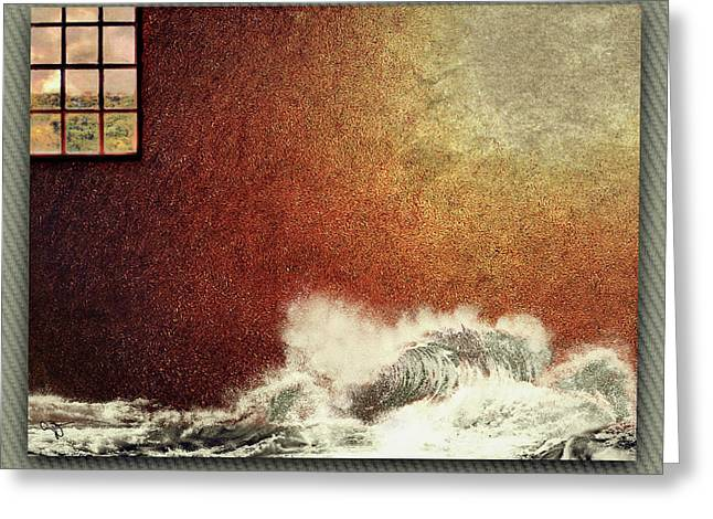 Storm Against The Walls Greeting Card