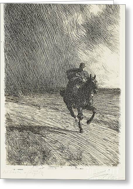 Storm Greeting Card by Celestial Images