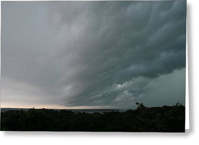Storm Approaches Montauk Greeting Card by Christopher Kirby