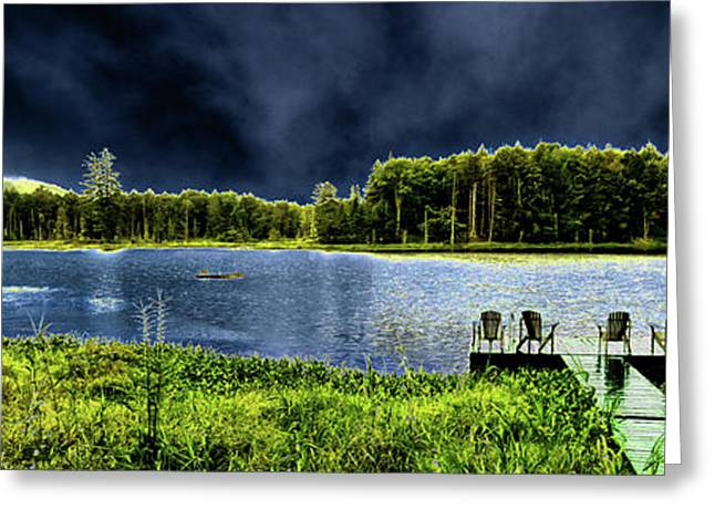 Greeting Card featuring the photograph Storm Approaching The Pond by David Patterson