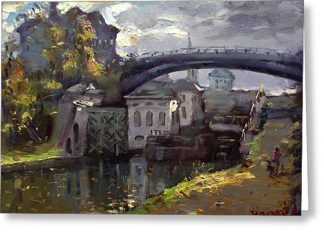 Storm Aproach At Lockport Locks Greeting Card by Ylli Haruni