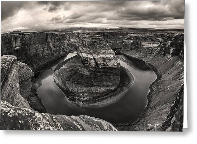 Storm At Horseshoe Bend Greeting Card