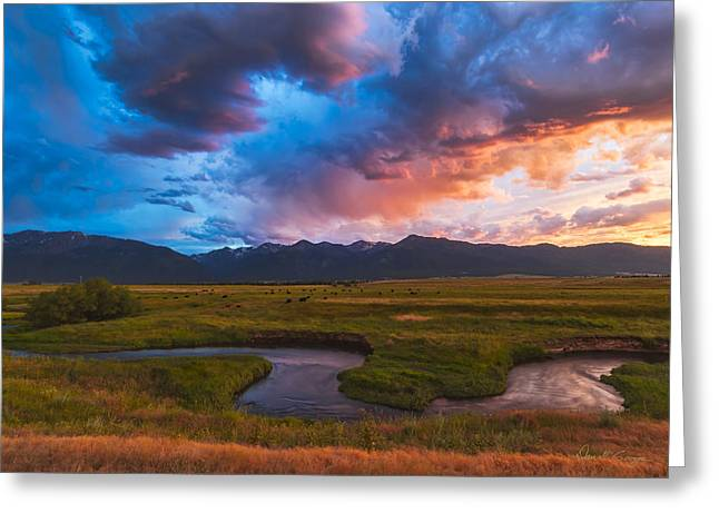 Storm At Prairie Creek Greeting Card