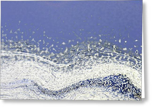 Storm At Sea Greeting Card by Bonnie Bruno