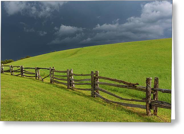 Storm At The Lump Greeting Card by Jim Neal