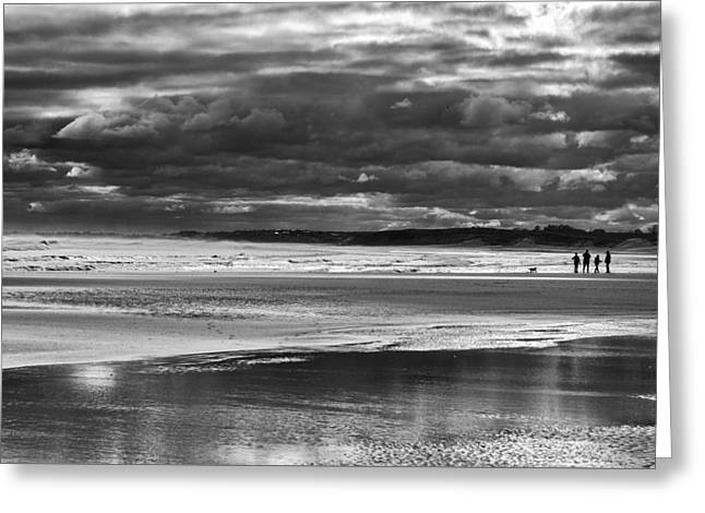 Greeting Card featuring the photograph Storm Beach by Adrian Pym
