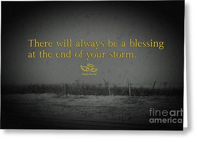 Greeting Card featuring the photograph Storm Blessings by Beauty For God