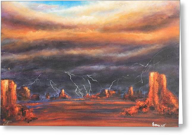 Storm Break Greeting Card by Art Enrico