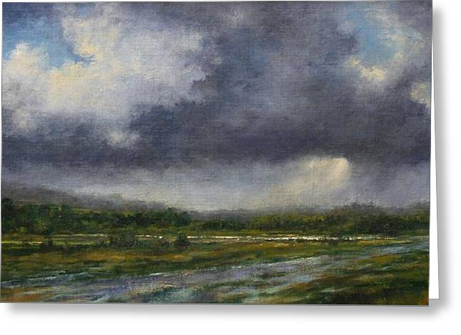 Storm Brewing Over The Refuge Greeting Card