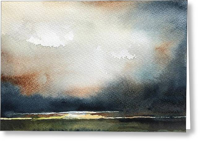 Storm Brewing Greeting Card by Stephanie Aarons
