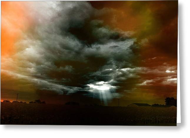 Storm Cell Rural Midwest Greeting Card by Thomas Woolworth