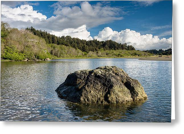 Storm Clearing On The Little River Greeting Card by Greg Nyquist