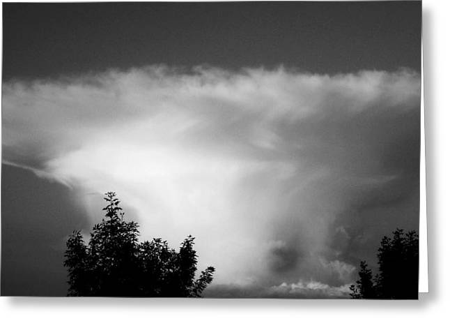 Storm Cloud Greeting Card by Juergen Weiss