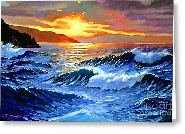 Storm Clouds - Catalina Island Greeting Card by David Lloyd Glover