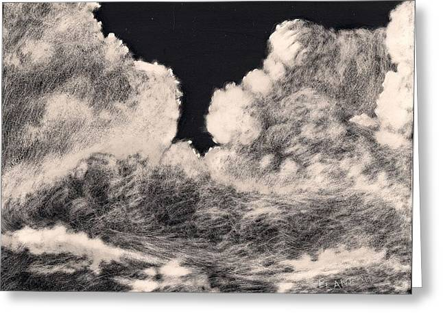 Storm Clouds Drawings Greeting Cards - Storm Clouds 1 Greeting Card by Elizabeth Lane