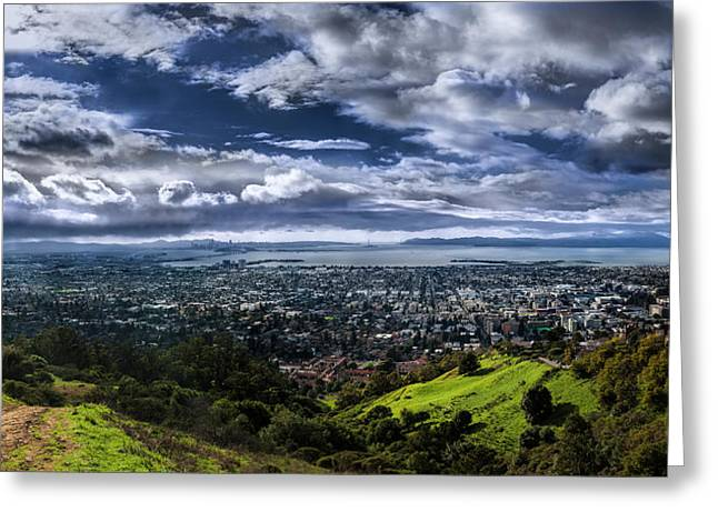 Storm Clouds And Bay Views, Claremont Canyon Regional Preserve Greeting Card