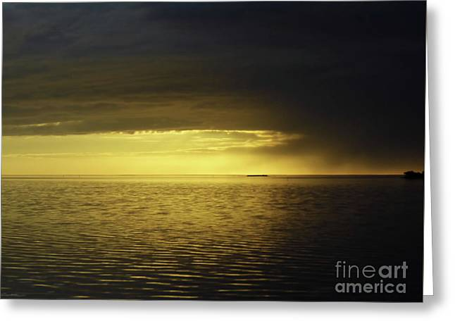 Storm Clouds At Sunset Greeting Card by D Hackett
