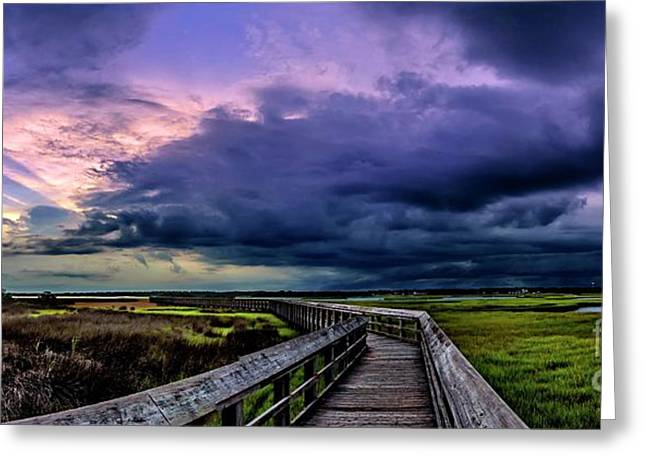 Greeting Card featuring the photograph Storm Clouds by DJA Images