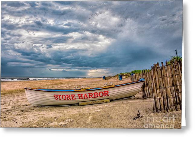 Storm Clouds In Stone Harbor Greeting Card