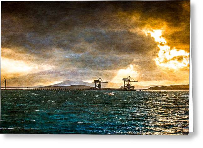 Storm Clouds Over Arran Greeting Card
