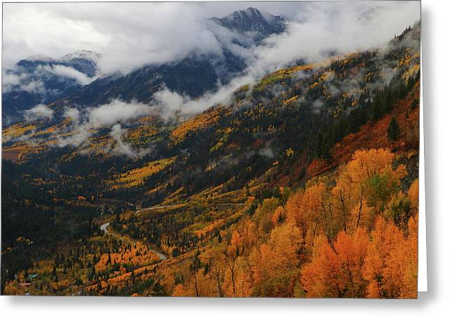 Greeting Card featuring the photograph Storm Clouds Over Mcclure Pass During Autumn by Jetson Nguyen