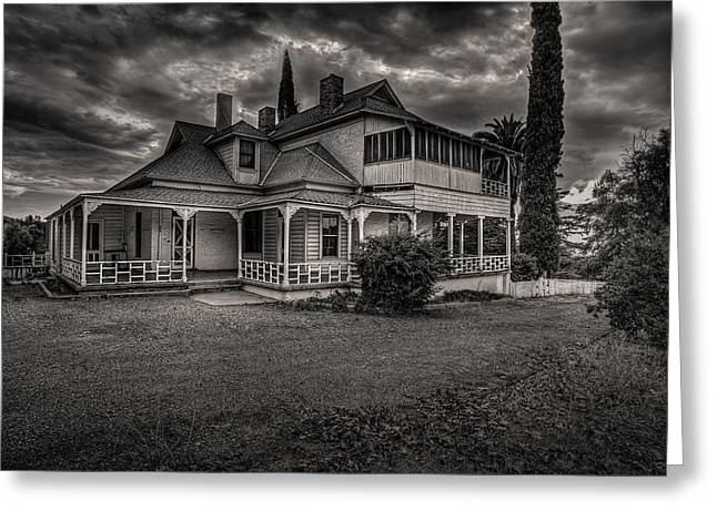 Storm Clouds Over Old House Greeting Card