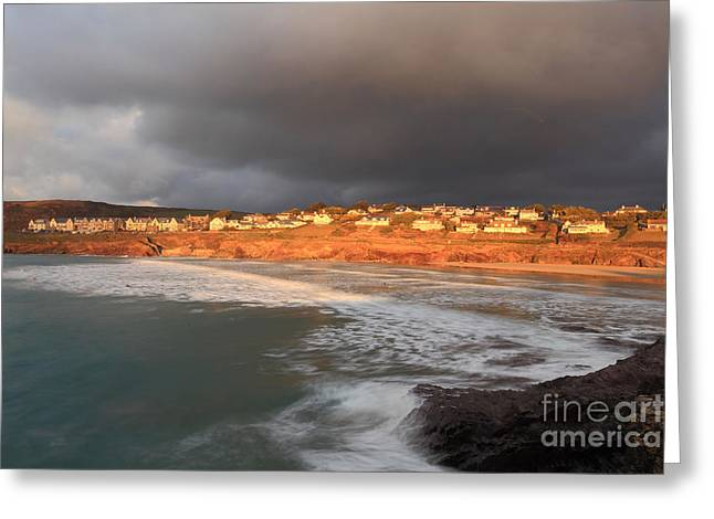 Storm Clouds Over Polzeath Greeting Card