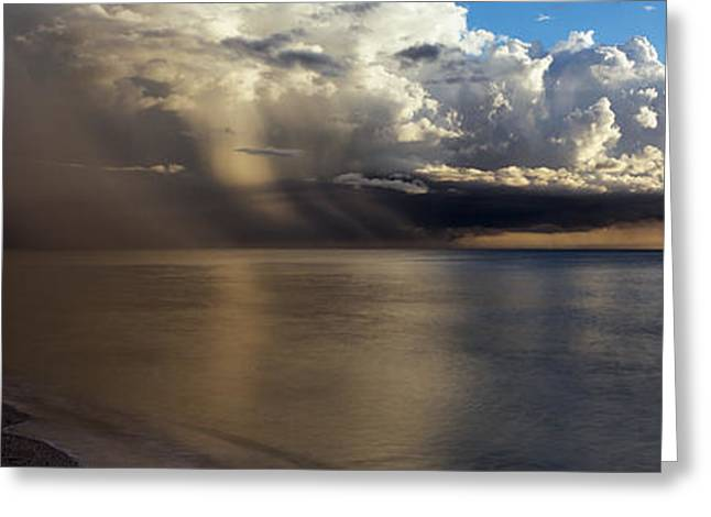 Storm Clouds Over The Sea Greeting Card