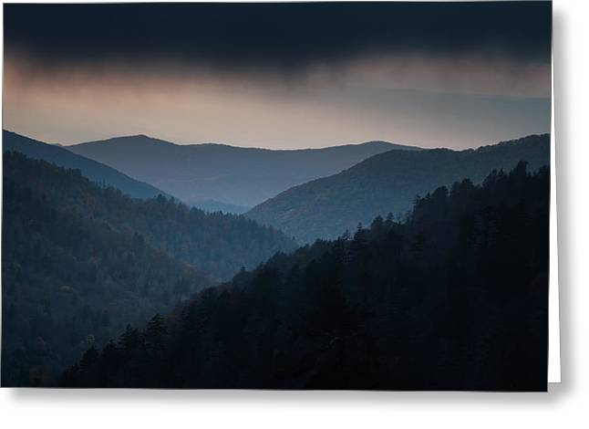 Stormy Clouds Greeting Cards - Storm Clouds over the Smokies Greeting Card by Andrew Soundarajan